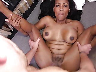Black MILF knows how to heal sick guy