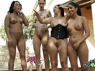 Casting with milk orgy