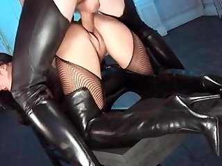 ultimate leather boots fuck