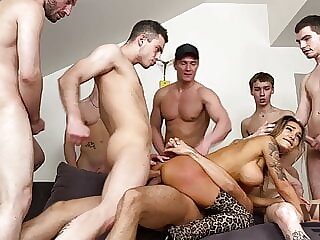 EIGHT HOT GUYS FUCKED HARD AND PISSED OFF MONICA FOX 4