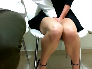 I CUM ON A PUBLIC CONFERENCE AT WORK
