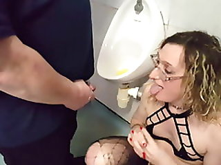 Blonde British Girl Being Pissed On By Urinal Lisa And John