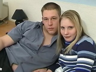 Claudia 18 years old - her first HC video