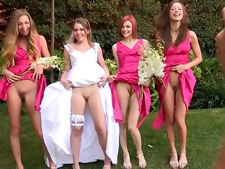 Bride To Be and Her Three Bridesmaids