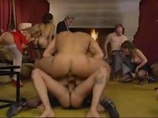 European group sex video with horny lesbians and anal