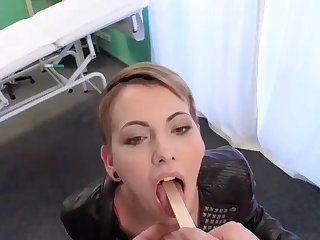 Short haired patient gets special treatment