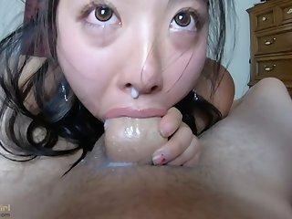 CUM dripping out of her NOSE!! INTENSE pov THROATFUCK for sukisukigirl