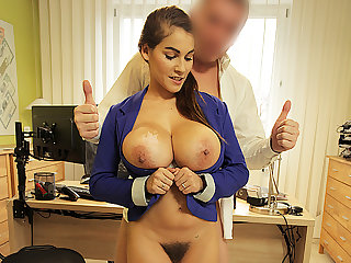 LOAN4K. Agent receives blowjob and titjob so gladly helps hot chick
