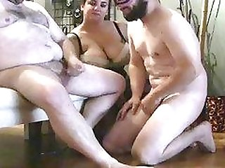 She dominates a couple of butt boys