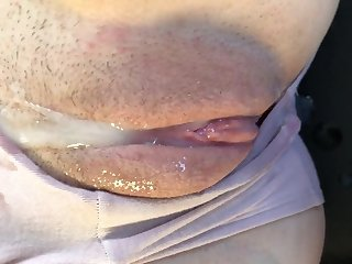 Perfect twat filled with fresh dripping cumhot creampie close up