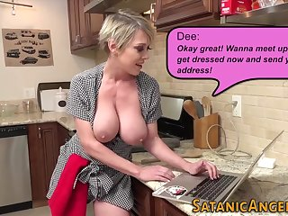 Busty housewife squirts