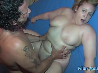 You fuck in the ass the BBW and cum in the face of the Rasta milf