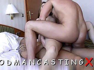 Sexual brunette lady gets wang deep inside mouth and pie