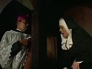 Nun nailed in the tooshie by black priest