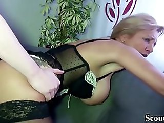 Mature German Doll In Softcore, Dark-hued Pantyhose Got Boinked From The Back, Until She Came