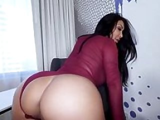 Boobalicious Latina teases bf and besides then gives head his hard cock