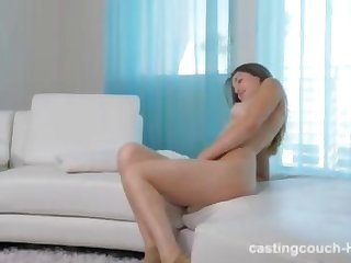 Casting brunette getting fucked with a bbc for an hour