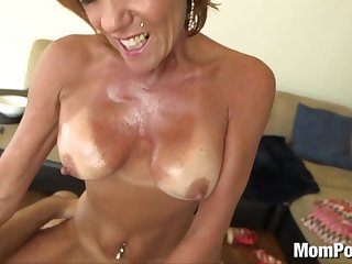 44 year old big tits cougar From LOCALMILF.INFO takes facial