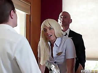 A Hot Receptionist Gets Fucked Doggystyle By Her Boss At Work