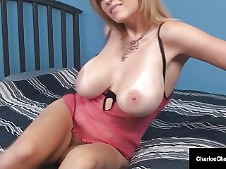 Potty Mouth Milf Charlee Chase Gets Titty Fucked & Cummed On