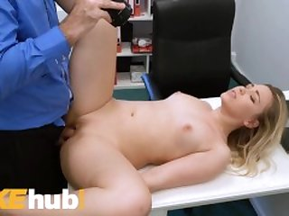 Fake Agent New Model Selvaggia fucked doggy style on couch
