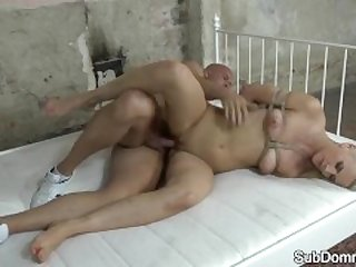 Dominated babe gets fucked after flogging