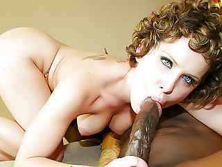 Black and Big - Brunette Katie St Ives Fucks and Swallows