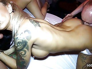 German Party Gangbang for Two Teens Anni Angel and LouJaxx