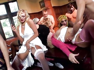 Lucky Milkman Orgy: He knocks the Wrong Door into a Party