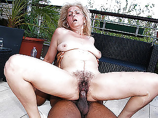 hairy 72 years old granny first time interracial