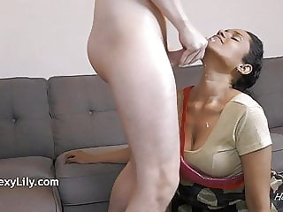 Beautiful Cumshot By Indian Horny Lily After Pretty Blowjob