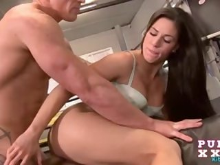 Atina Love loves to fuck in gym