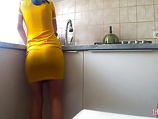 Quick fuck before breakfast. Teasing him i won a quick fuck