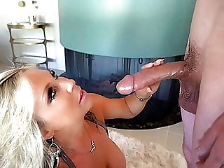 Busty Cougar Can't Believe How Big His Cock Is