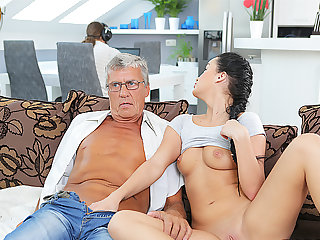 DADDY4K. Naughty girl Erica Black seduces BF's dad to fuck her pussy
