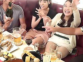 Asian chicks get drunk then fall asleep and fucked at a party