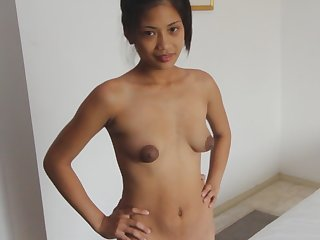 Asian Amateur Franciska Shows Huge Nipples And Gets Fucked In POV