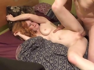 Sexy ginger mature and her lover with another super sextape part 2
