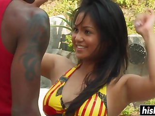 Lana Violet is hungry for a black cock