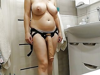 Sexy milf wants to fuck her slave with a huge cock
